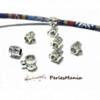 perlesmania.com PS1102491 Pax 25 pendentifs B/éli/ères Predator 15 par 10mm Metal Argent Antique