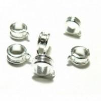 S1119544 PAX 50 pendentifs bélières metal couleur Argent Vif