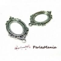 PAX 5 pendentifs cadre vintage H18835 metal Couleur Argent Antique