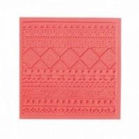 Tapis de Texture Ethnique 9cm pour Pate Fimo, Sculpey Cernit Graine Créative 265402