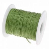 160428090701 PAX 1 Bobine d'environ 70m de fil en coton ciré 1mm Vert Clair 2X7206 NO14