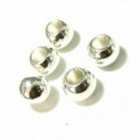 PS110200003 PAX 50 perles intercalaires Trou 5,6mm couleur Argent Vif