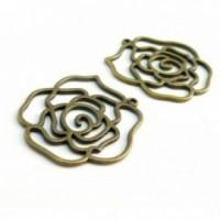 130613085951 PAX 20 pendentifs breloque Fleur Spirales métal couleur Bronze