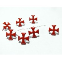 lot de 50 clous croix 12mm rouge ref 9-4B0 à 2 griffes