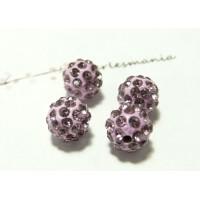 10 perles shambala 10mm lilas qualité
