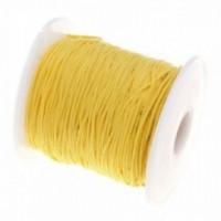 160808140632 PAX 1 rouleau de 73 mètres fil Nylon Tressé 1mm Jaune couleur NO3