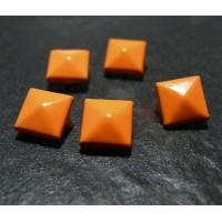 lot de 10 clous rivet 9mm orange NO226 pyramide carré