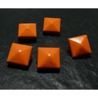 lot de 50 clous rivet 9mm orange pyramide NO 226 carré