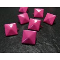 lot de 10clous rivet 12mm pyramide rose carré à 2 griffes