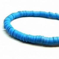 H0678 Lot 1 fil d'environ 380 Perles rondelles Heishi en pâte polymère 8 par 1mm couleur 33