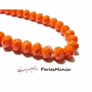 1 fil d'environ 149 perles Rondelles Verre Facettée Orange 4 par 3mm I033 Couleur 06