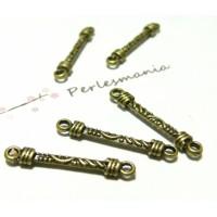 Apprêt bijoux 10 connecteur tige travaillées ref 76 Bronze