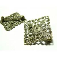 Apprêt bijoux 1 pièce support de broche carré BR ref 3G1540