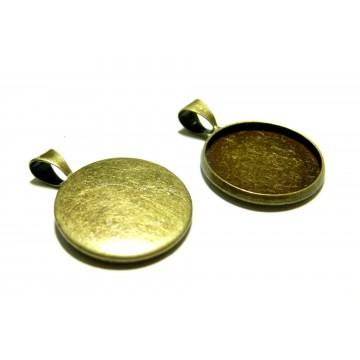 10 Support de pendentif 18mm qualité attache triangle BR