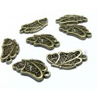 Apprêt bijoux 30 pendentif papillon 2W1218 Bronze