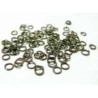 200 anneaux de jonction 6mm par 0.8 mm bronze