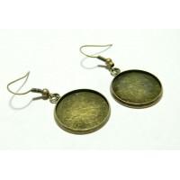 Apprêt bijoux 10 pièces Boucle d'oreille crochet Qualité 20mm BR pour image digitale