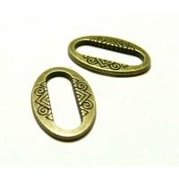 Apprêt bijoux 40 pendentifs anneau connecteur ovales 2W5132 Bronze