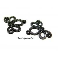 Apprêt bijoux 10 pendentifs breloque Retro P11609Y GUN metal