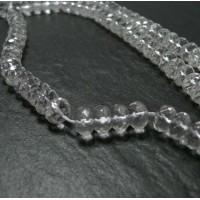 2 perles cristal de roche rondelles facetée 10*6mm
