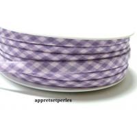50cm ruban cordon spaghetti petit pois 7mm ref FFcollection 505 vichy violet rose