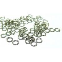 1000 anneaux de jonction 7 mm par 0.9 mm argent platine PP