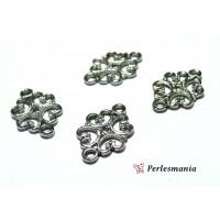 Fournitures pour bijoux: 50 pendentif Connecteur arabesque GUN METAL PS005