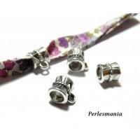 Apprêt bijoux : 50 pendentifs bélières P30047 vieil argent