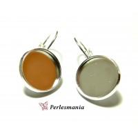 Craft bijoux: 10 supports Boucles d'oreille argent vif 18mm
