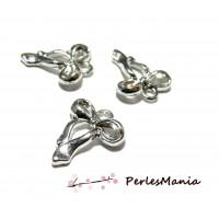 4 pendentifs magnifique noeuds 3D OB 2000 Argent Platine fournitures pour bijoux