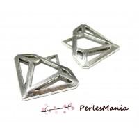 Accessoires pour bijoux: 5 pendentifs diamants 2B81424 Vieil argent