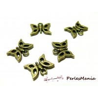 Fournitures bijoux: 50 breloques petits papillons bronze 2D1264