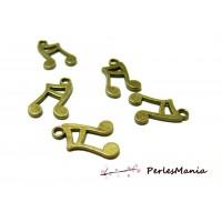 40 pendentifs note de musique bronze 2D2235 scrapbooking pour bijoux