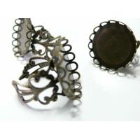1 Support de bague 25 mm vague bronze dentelle