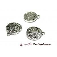 10 magnifiques breloque Oursin Fleur viel argent 2B6102 fournitures bijoux