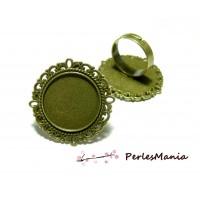 10 bagues ARTY Retro qualité 20mm BRONZE ref162 materiel pour création de bijoux