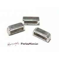 40 slides passant Rectangle H1665 VIEIL Argent pour création de bijoux